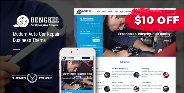 Automotive Car Repair WordPress Template