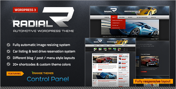 Automotive Car Tech WordPress Template