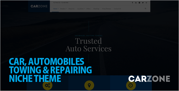 Automotive Car Zone WordPress template