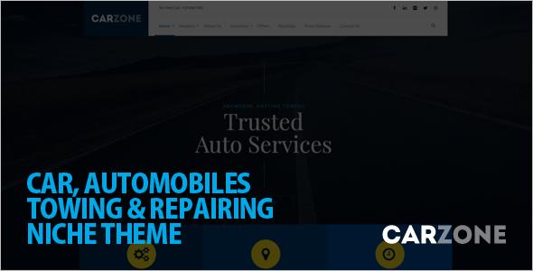 Automotive Car Zone WordPress template