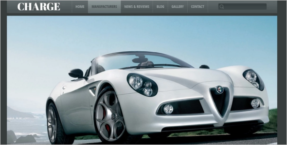 Automotive Car rating WordPress Theme