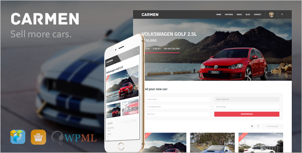 Automotive Carmen WordPress Template