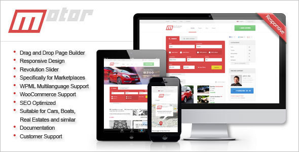 Automotive Market Place WordPress Template