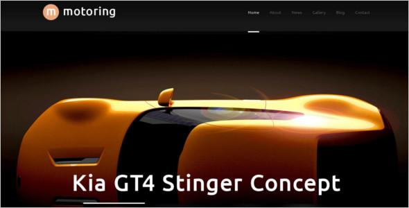 Automotive Motoring WordPress Template