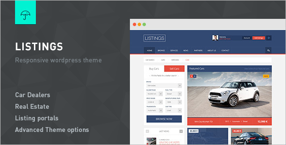 Automotive Real Estate WordPress Template