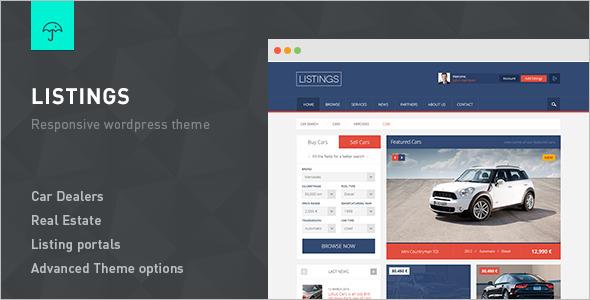 Automotive Real Estate WordPress Template