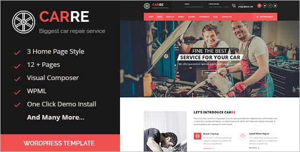 Automotive Repair WordPress Template