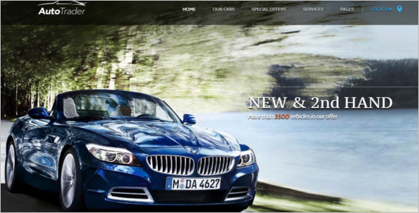Automotive Trader WordPress Template