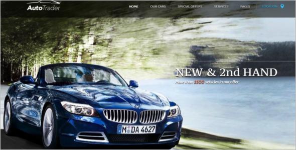 Automotive Trader WordPress Template