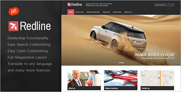 Automotive Vehicle WordPress template