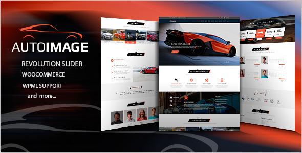 Automotive image WordPress Teplate