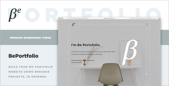 Behance Projects WordPress Theme