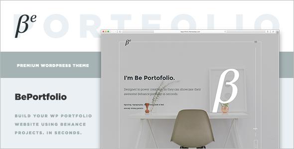 Behance Projects WordPress Theme