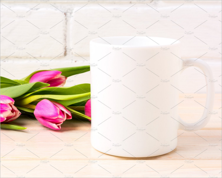 Blank White Coffee Mug Mockup