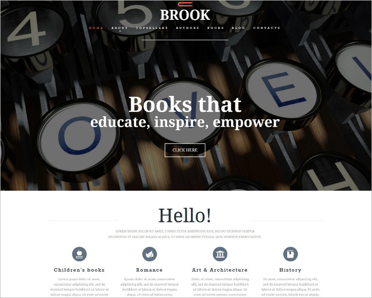 Book Publishers Joomla Template
