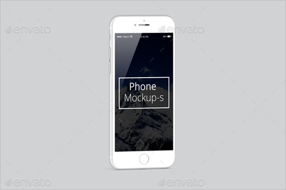 Branded iPhone Mockup Design