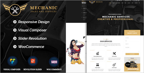 Business Car Services WordPress Template