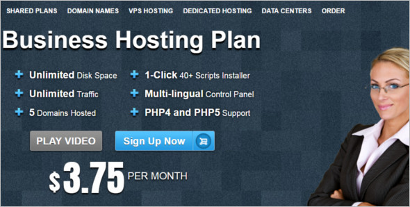 Business Hosting WordPress template