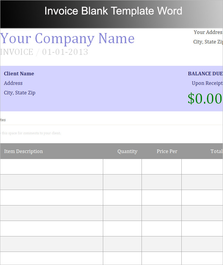 Business Invoice Template PDF Format