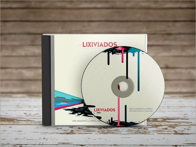 CD-DVD Disk & Cover Mockups