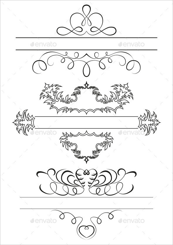 Calligraphic Elegant Set of a Framework for Your Ideas