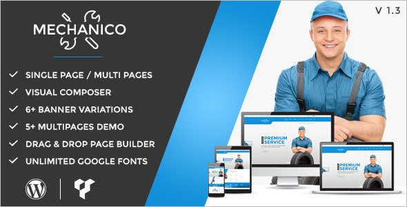 Car Mechanic WordPress Template