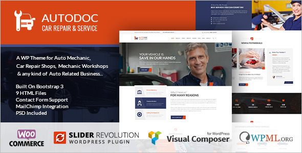 Car Repair Services WordPress template