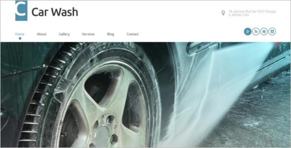 Car Wash WordPress Template