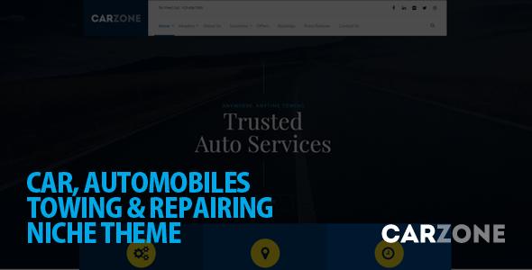 Car Zone Automotive WordPress Template
