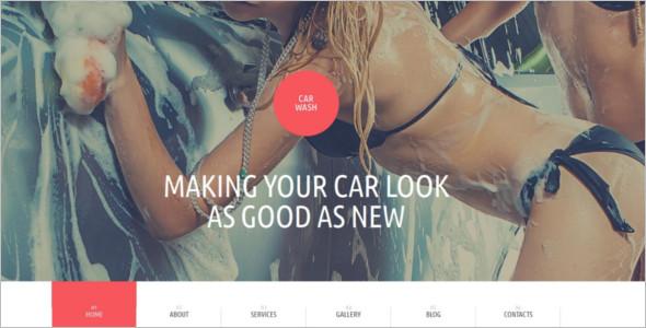 Car wash Bootstrap WordPress template