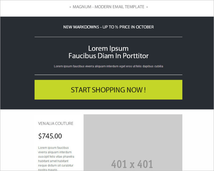 Catalogs HTML Email Template