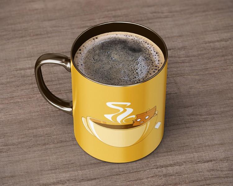 Ceramic Coffee Mug Mock-Up