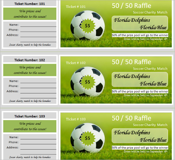 Charity Raffle Ticket Template Format
