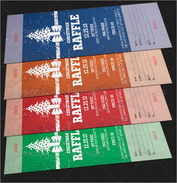 Christmas Raffle Ticket Template