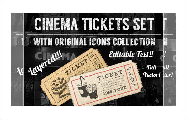 Cinema Ticket Set Design Template