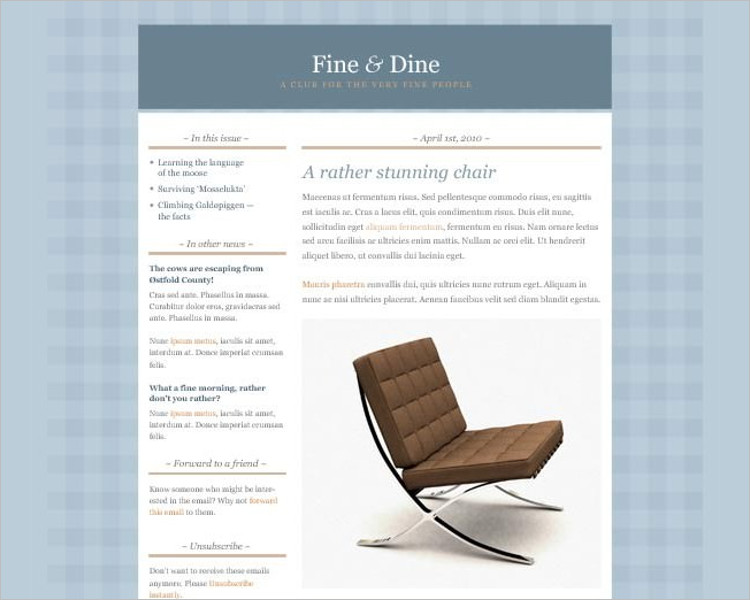 Classic HTML Email template