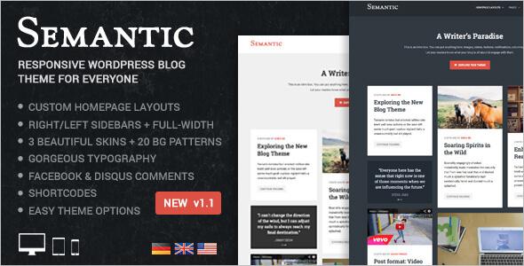 Clean Blog Author WordPress Template