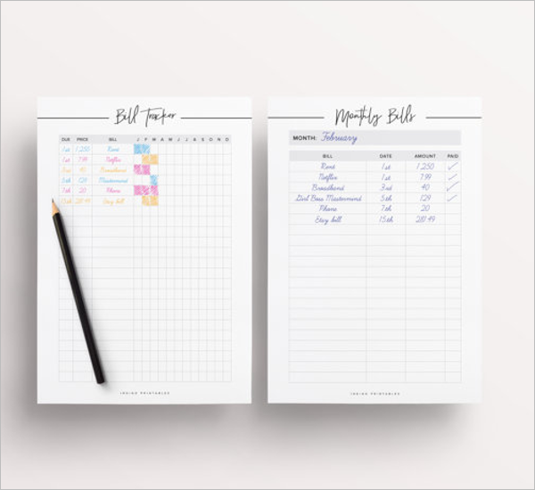 Clean Budget Planner Format