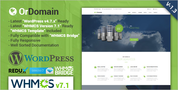 Cloud Hosting WordPress Template