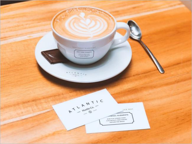 Coffee Bar Cup Mockup Design