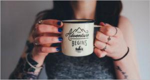 Coffee Cup Holding Mockup