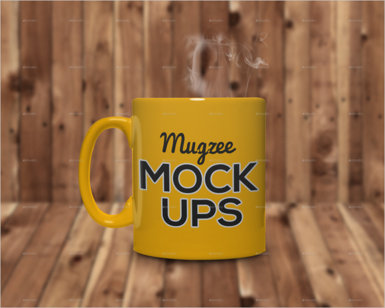 Coffee Mug Mockup PSD Vector