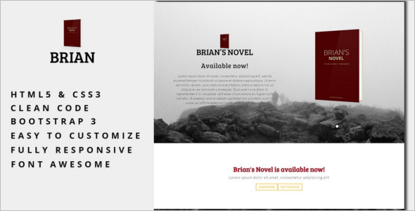 Comming Soon Ebook Landing Page Template