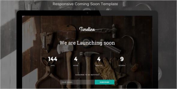 CommingSoon Video Website Template