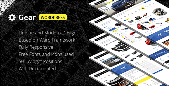 Company Auto Store WordPress Template