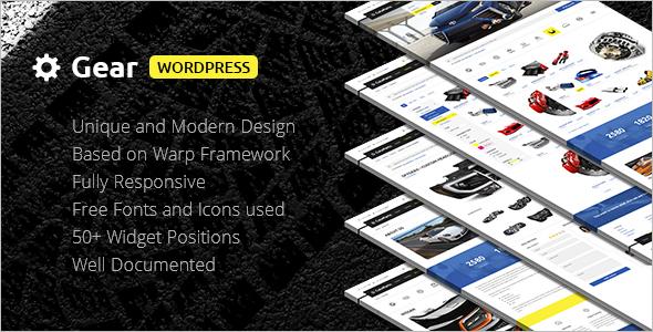 Company Auto Store WordPress Template