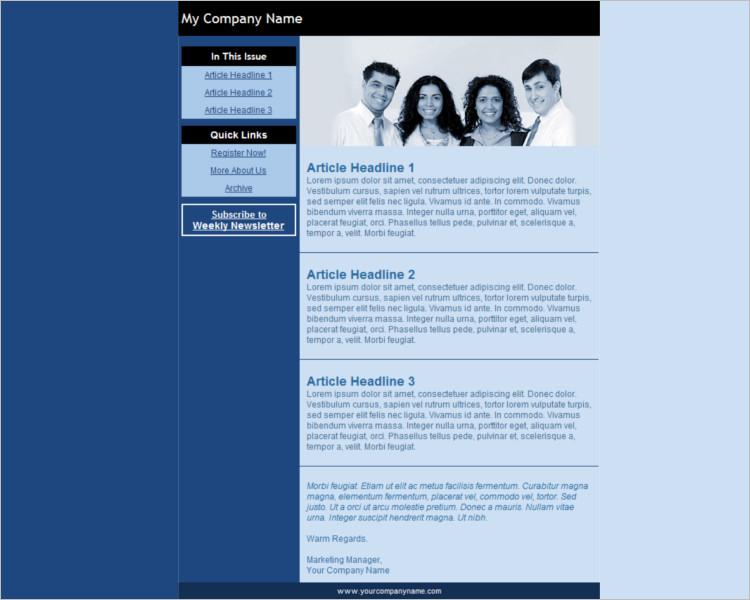 Company HTML Email Templates