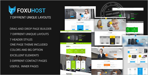 Company Hosting WordPress Template
