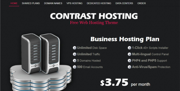 Contrast Hosting WordPress Template