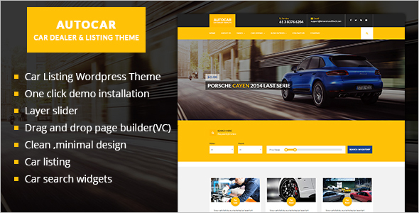 Corporate Car Dealer WordPress Template